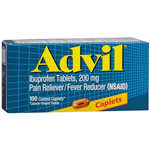 Advil Advanced Medicine for Pain, 200mg, Caplets, 100 ea