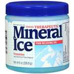 Mineral Ice Cool Greaseless Pain Reliever, 8 oz