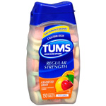 Tums Antacid/Calcium Supplement, Assorted Fruit, 150 ea