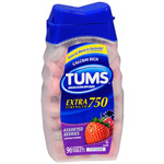 Tums E-X Extra Strength Antacid/Calcium Supplement, Berries, 96 ea