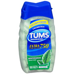 Tums E-X Extra Strength Antacid/Calcium Supplement, Wintergreen, 96 ea