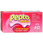 Pepto-Bismol Easy to Swallow Caplets, 40 ea