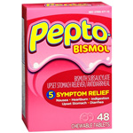 Pepto-Bismol Chewable Tablets, Original, 48 ea