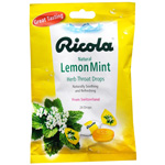 Ricola Herb Throat Drops, Natural Lemon-Mint, 24 ea