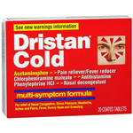 Dristan Multi-Symptom Nasal Decongestant, Coated Tablets, 20 ea