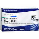 Muro 128 Sterile Ophthalmic 5% Ointment, Twin Pack, .25 oz