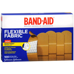 Band-Aid Flexible Fabric Adhesive Bandages 1 In, 100 ea