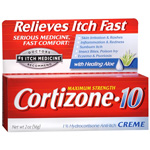 Cortizone 10 Hydrocortisone Anti-Itch Creme, Maximum Strength, 2 oz