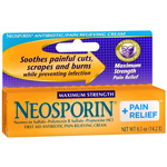 Neosporin Plus Pain Relief, Maximum Strength, First Aid Antibiotic Cream, .5 oz