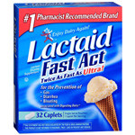 Lactaid Fast Act Lactase Enzyme Supplement, Caplets, 32 ea