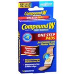 Compound W One Step Pads, Wart remover, 14 ea