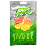 Halls Defense Sugar Free Vitamin C, Assorted Citrus, 25 ea