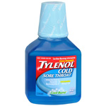 Tylenol Sore Throat, Daytime Liquid with Instant Cool Burst Sensation, 8 fl oz
