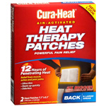 Cura-Heat Therapeutic HeatPacks for Back Pain, Large Size, 2 ea