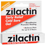 Zilactin Cold Sore Relief Gel, .25 oz