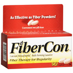 FiberCon Fiber Therapy For Regularity, Caplets, 90 ea