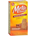Metamucil Natural Psyllium Fiber Wafers, Cinnamon Spice, 12 ea