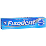 Fixodent Denture Adhesive Cream, Fixodent Free, 2.4 oz