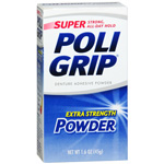 Super PoliGrip Denture Adhesive Powder, 1.6 oz