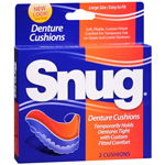 Snug Denture Cushions, 2 ea