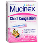 Mucinex Junior Expectorant, Mini-Melts Bubble Gum, 12 ea