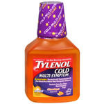 Tylenol Cold Multi-Symptom Liquid, 8 fl oz