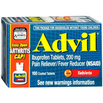Advil Advanced Medicine for Pain, Easy Open Cap, 200mg, Tablets, 150 ea