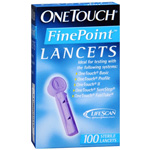 OneTouch Fine Point Sterile Lancets, 100 ea