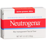 Neutrogena Transparent Facial Bar, Acne-Prone Skin Formula Soap, 3.5 oz