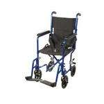 Drive Medical Aluminum Transport 17 Inch Blue, 1 ea