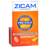 Zicam Cold Remedy RapidMelts with Vitamin C, Citrus, 25 ea