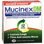 MucinexDM Expectorant, Cough Suppressant, Extended-Release 1200 mg Tablets, 28 ea
