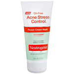 Neutrogena Oil-Free Acne Stress Control Power-Cream Wash, 6 fl oz