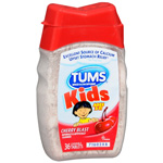Tums Kids, Antacid/Calcium Supplement, Chewable Tablets, Cherry, 36 ea