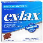 ex-lax Chocolated Stimulant Laxative, 24 ea