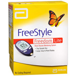 FreeStyle Freedom Lite, Blood Glucose Monitoring System No Coding Kit, 1 ea