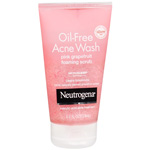 Neutrogena Oil-Free Acne Wash Foaming Scrub, Pink Grapefruit, 4.2 fl oz