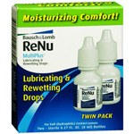ReNu MultiPlus Lubricating & Rewetting Drops, Twin Pack, .27 oz