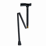 Drive Medical Designer Folding Cane Adjustable Black, 1 ea