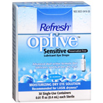 Optive Sensitive Preservative-Free Lubricant Eye Drops, 30 ea