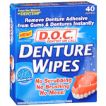 D. O. C. Denture Wipes, 40 ea