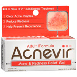 Acnevir Adult Formula Acne & Redness Relief Gel, .75 oz