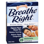 Breathe Right Nasal Strips Vapor 28 ct (S/M), 28 ea
