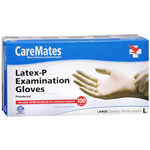 CareMates Disposable Medical Gloves - Powdered Latex, Large, 100 ea