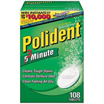 Polident 3 Minute Tablets, Triple Mint Freshness, 108 ea