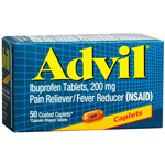Advil Pain Reliever/Fever Reducer 200 mg, Coated Caplets 50ea