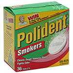 Polident Denture Cleanser Antibacterial Smokers Tablets 36ea