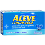 Aleve All Day Strong Pain Reliever, Fever Reducer, Liquid Gels - 20 ea