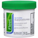 Fleet Glycerin Suppositories - Adult Size, 24 ea