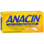 Anacin Pain Reliever - Coated Tablets, 100 tab